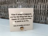 Shabby Personalised Chic Godmother Godparents Christening Candle Gift..